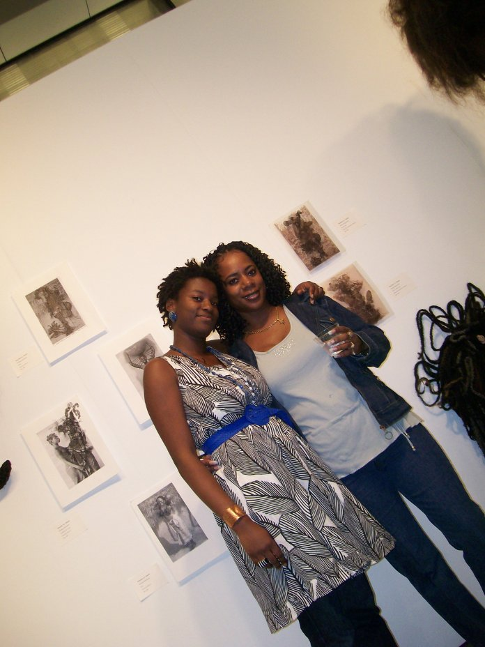 My Mama & I at my BFA Thesis show at MICA 2009